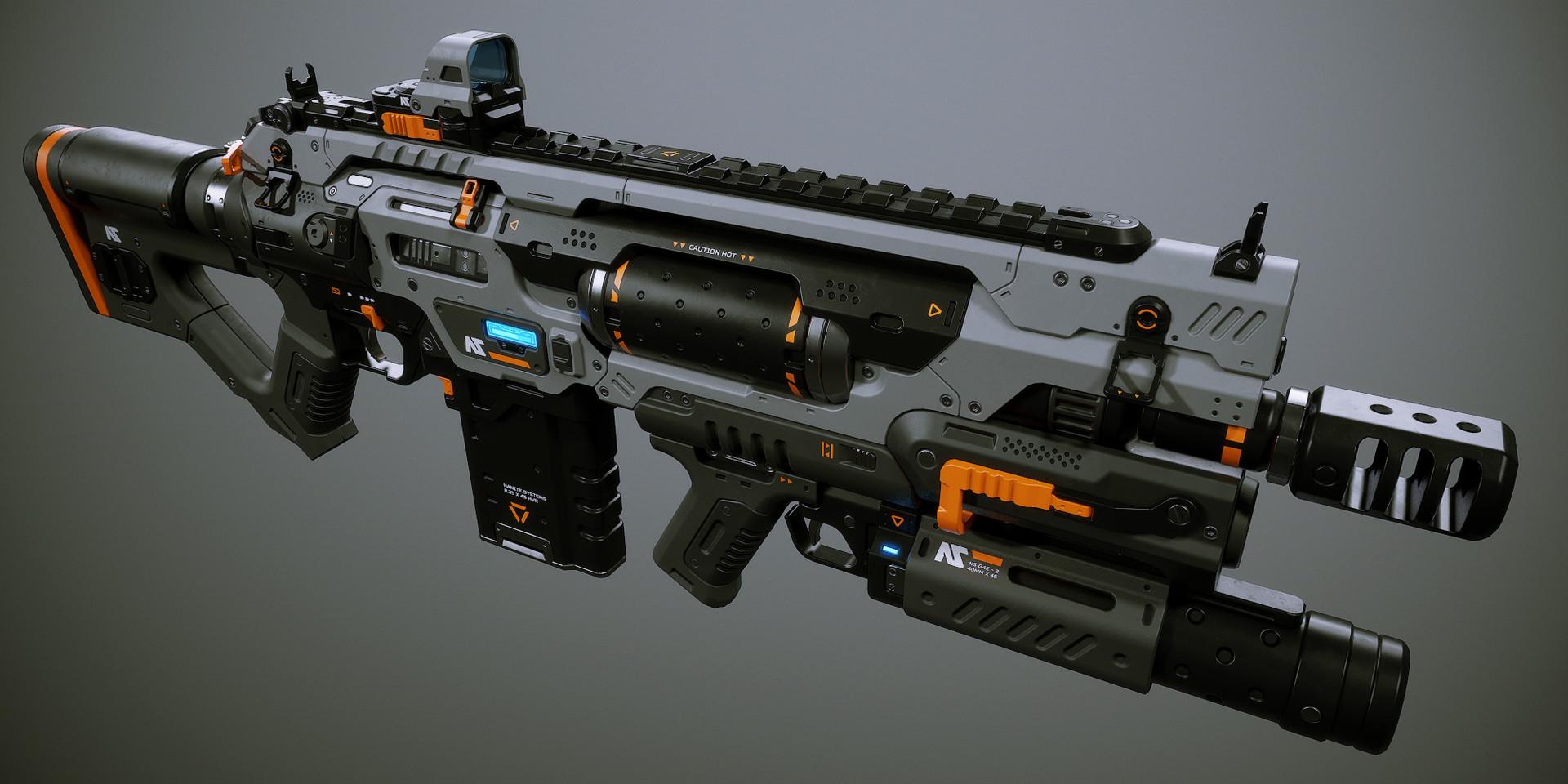 【C4D中文】枪械硬表面建模教程——更新中