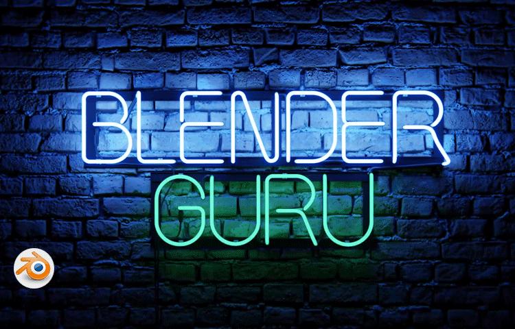 Blender 2.8免费教程:如何制作真实帅气的霓虹灯效果