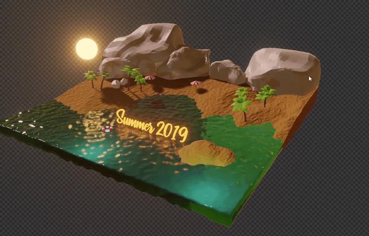 Blender 2.8:制作沙滩日落场景