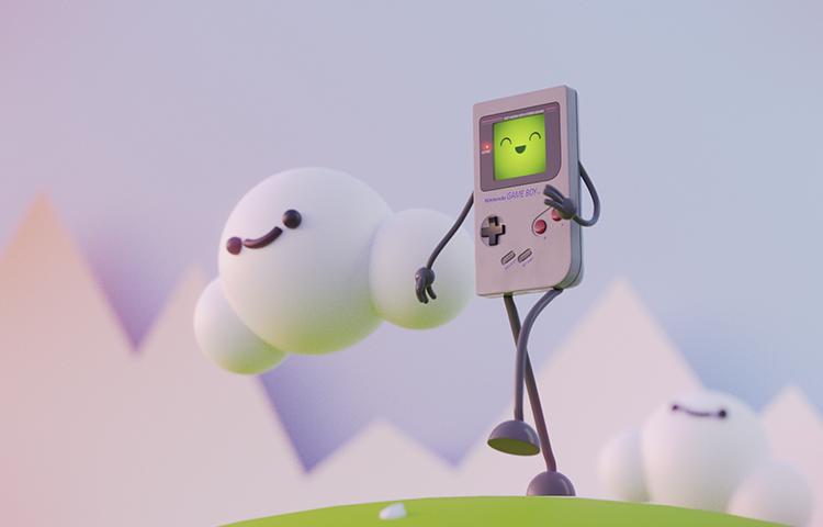 Blender动画教程—如何制作一个不停走路的游戏机小人